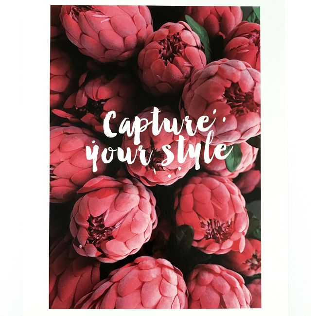 affiche A3 Capture your style chic and pepper 1