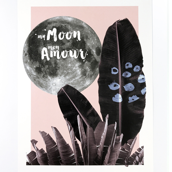 affiche A3 my moon my love chic and pepper 1