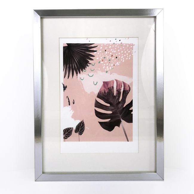 affiche A4 plant on pink chic and pepper 2