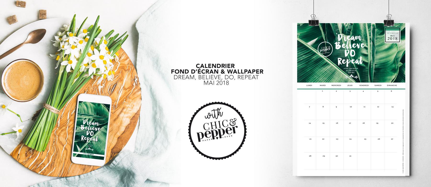 Calendrier Fond ecran mai Chic and Pepper slide