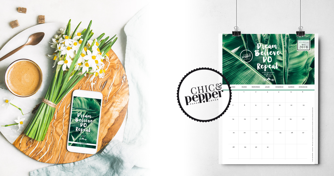 Calendrier Fond ecran mai Chic and Pepper slide