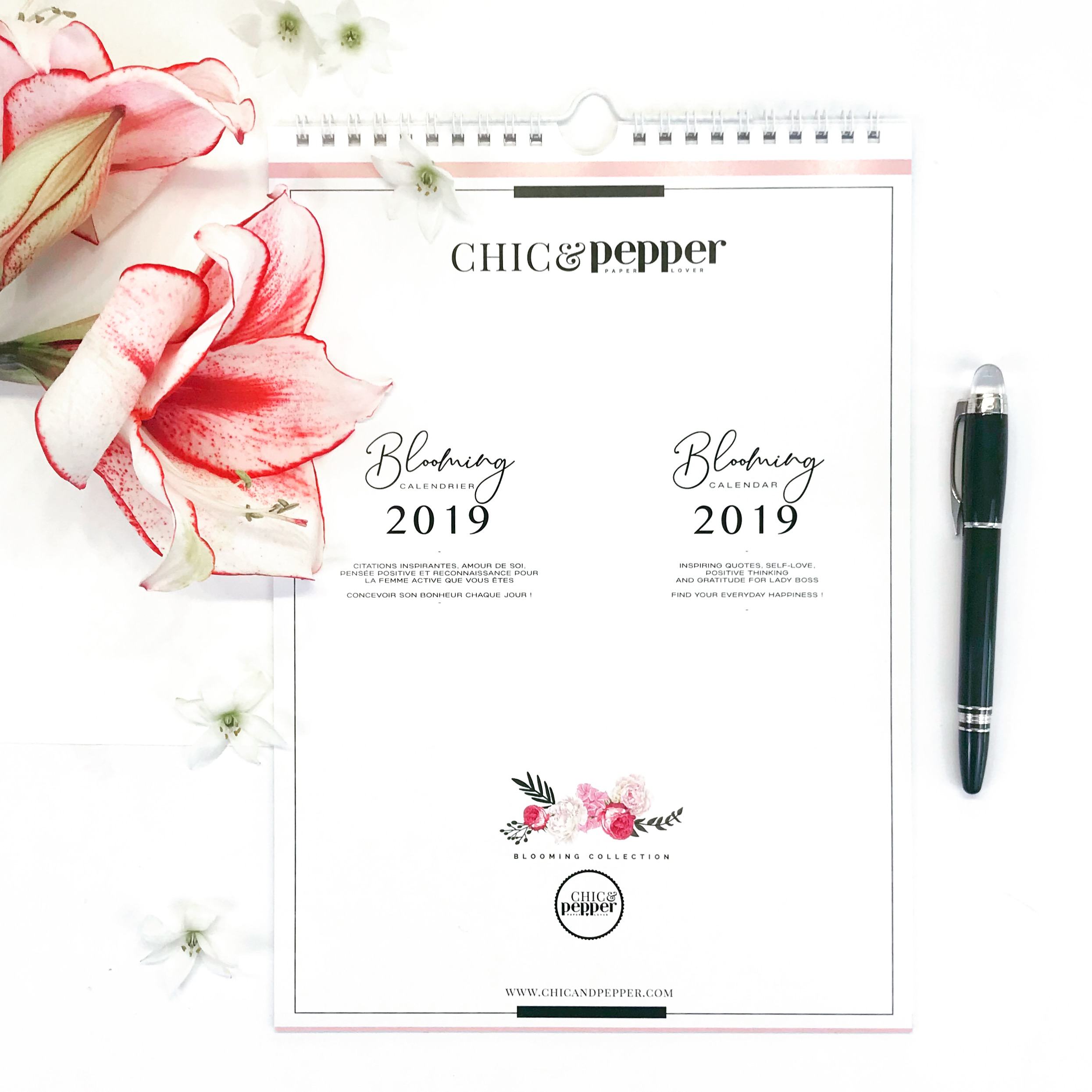 calendrier chic and pepper 2019 blooming