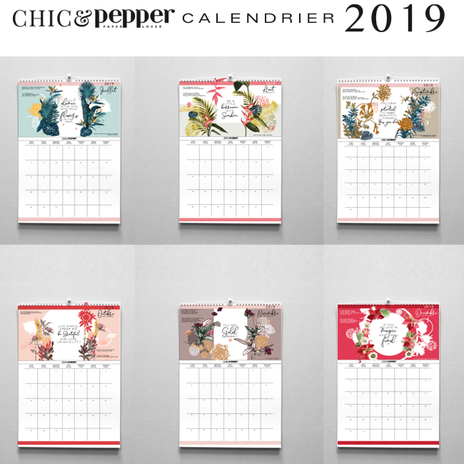 calendrier chic and pepper 2019 suite