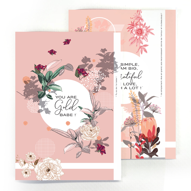 duo cahier chic and pepper gold- life simple