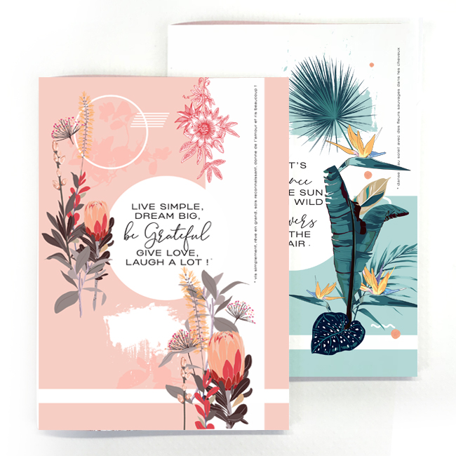 duo cahier chic and pepper life simple – wild flower