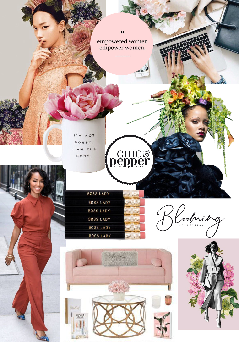 mood board collection blooming girl boss chic and pepper 2