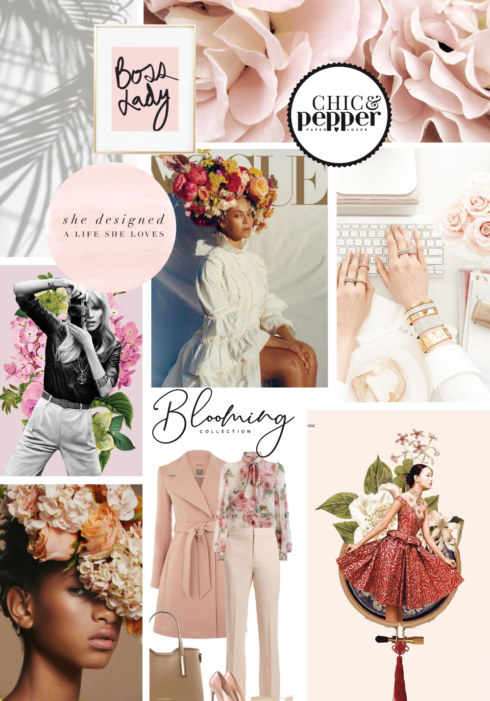 mood board collection blooming girl boss chic and pepper 3