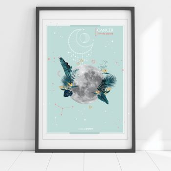 affiche Moon Cancer Chic and Pepper