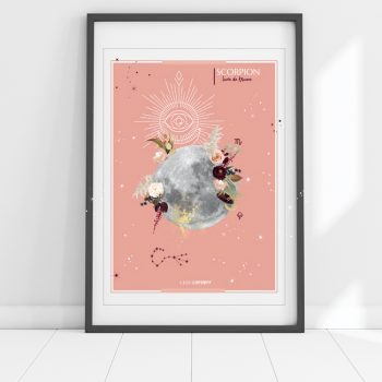 affiche Moon Scorpion Chic and Pepper