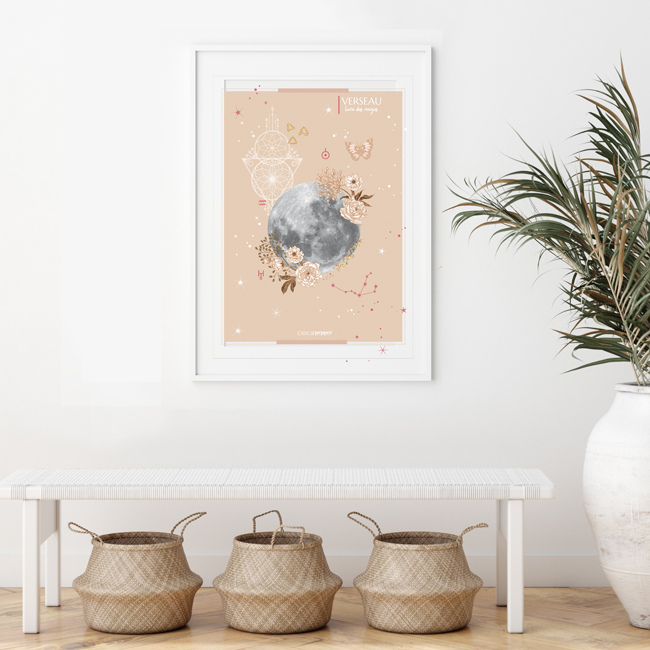 affiche Moon Verseau Chic and Pepper
