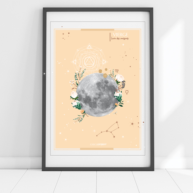 affiche Moon Vierge Chic and Pepper