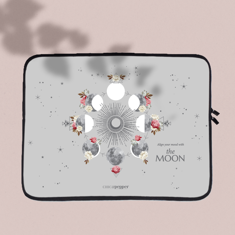housse ordinateur Chic and Pepper Cycle de la Lune